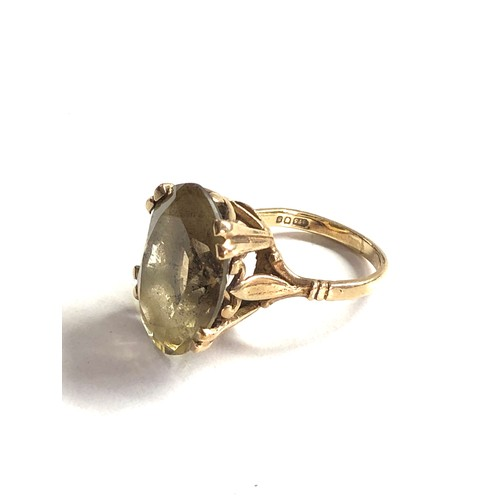 326 - 9ct Gold citrine cocktail ring 5.2g