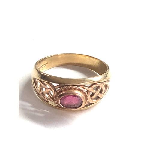 409 - 9ct tourmaline ring 6.4g