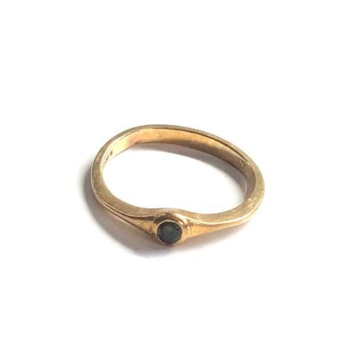 316 - 9ct antique tourmaline ring 1.6g