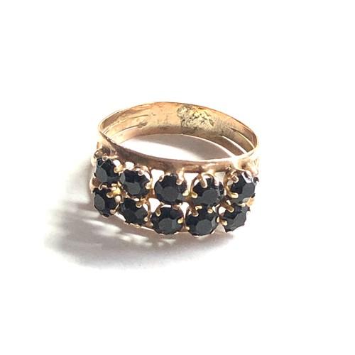 453 - 9ct Vintage stone set dress ring 2.6g