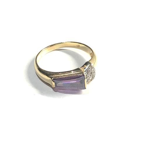 179 - 14ct amethyst dress ring 3.1g