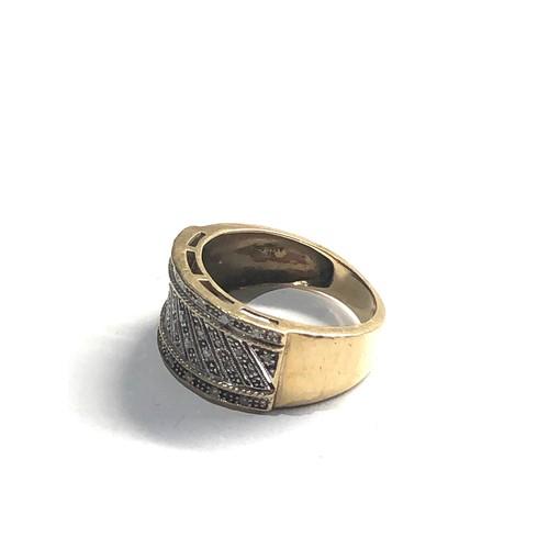 446 - Chunky 9ct Gold diamond dress ring 4.7g