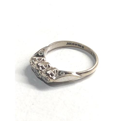 189 - vintage 9ct white gold diamond ring