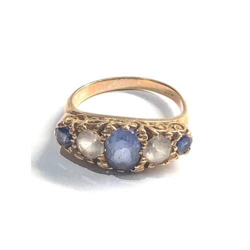 325 - 9ct  five stone dress ring 3.7g