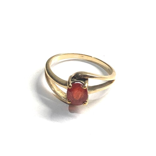372 - 9ct gold dress ring weight 2.9g