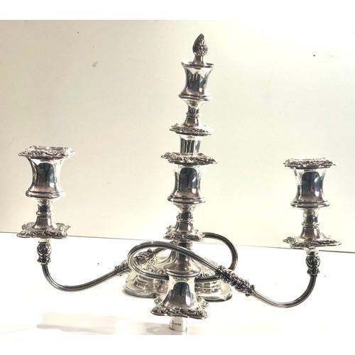 45 - Large silver candelabra measures apprpx 53cm high 37cm wide sheffield silver hallmarks filled damage...