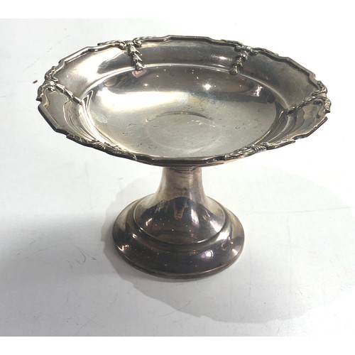 40 - Silver sweet dish measures approx 8cm tall 12.5cm dia Chester silver hallmarks weight 120g