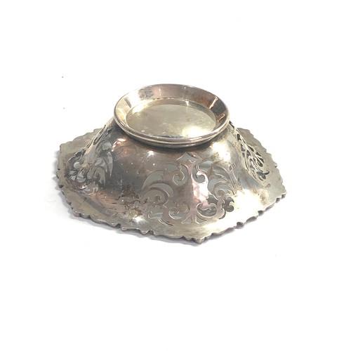 48 - Antique pierced silver sweet bowl weight 117g London silver hallmarks