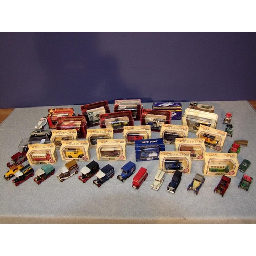 15 - Large qty of boxed & unboxed die cast cars & commercial vehicles...
