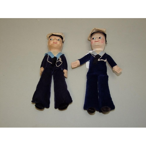 18 - 2 souvenir sailor dolls from 1930/40, 1 from MV Leopard & 1 from the Nevasa...