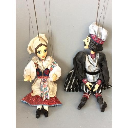 4 - Pair Czech puppets...