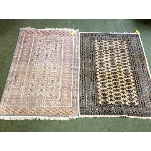 52 - 2 multi coloured rugs, 183x130cm & 186x125cm...