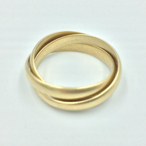 99 - Gold Russian wedding ring...