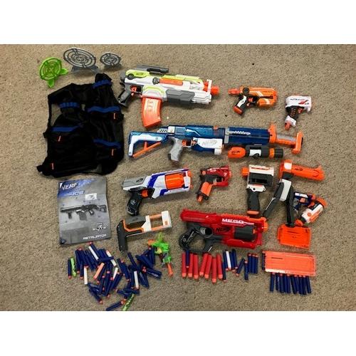 28 - Large quantity of Kids Nerf guns etc...
