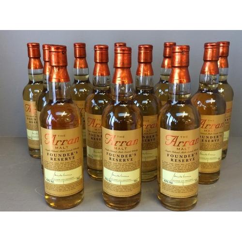 110 - Case of 12 bottles of Arron Founders reserve whisky...