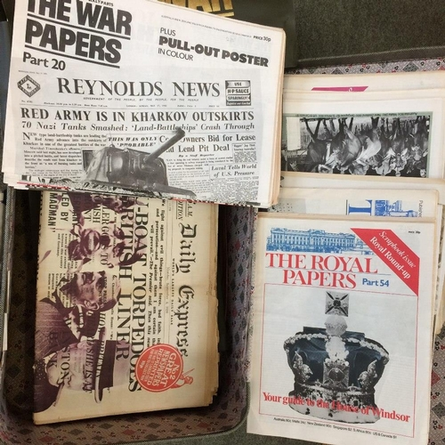 15 - Collection of 'The Royal Papers' & 'The War Papers' in plastic folders (5)...