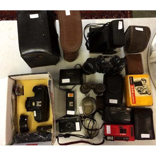 18 - Assorted cameras, binoculars etc...
