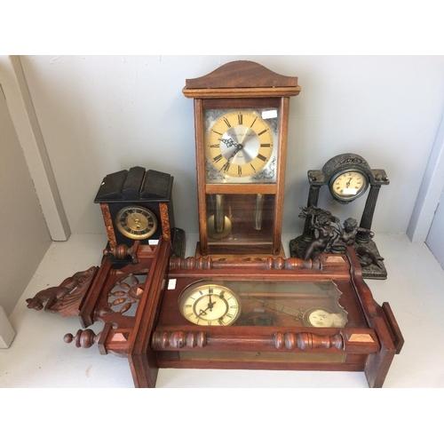 23 - Bavarian wall clock, modern wall clock, marble mantle clock, modern mantle clock...