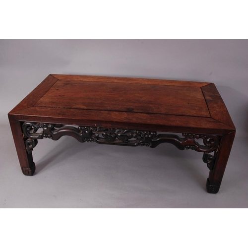 47 - C19th Chinese Hongmu low table, 76cm wide, 40.5cm deep...