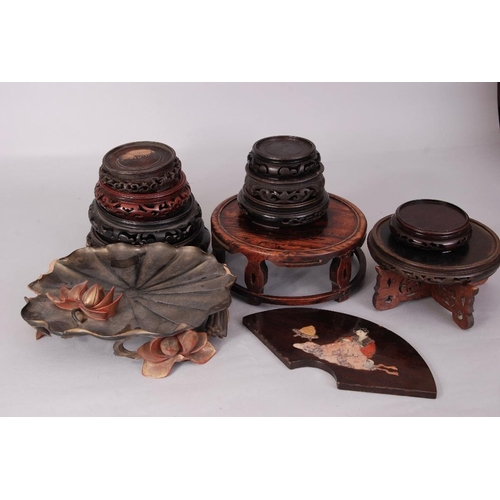 49 - Group of Chinese wood stands...