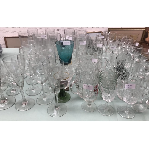 1 - Qty of general everyday modern drinking glasses...