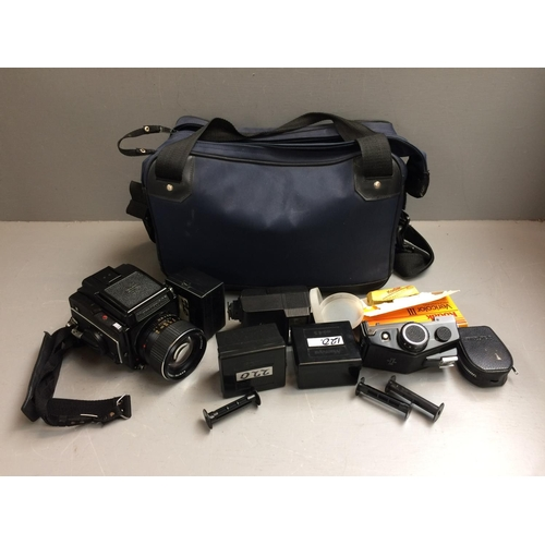 28 - Camera Mamiyaflex 2 1/4 square camera & accessories...