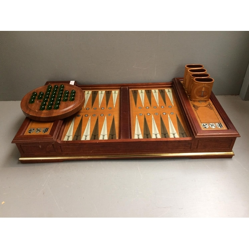 33 - Backgammon board, with solitaire and cards etc...