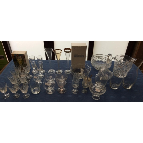 38 - Qty of cut glass including decanter, ice bucket & 6 Edinburgh crystal wine glasses...