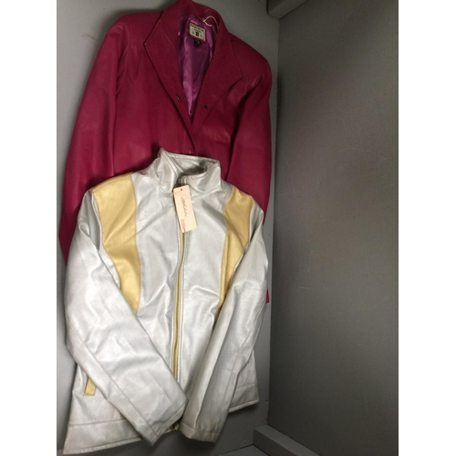 45 - 2 ladies leather jackets size small...