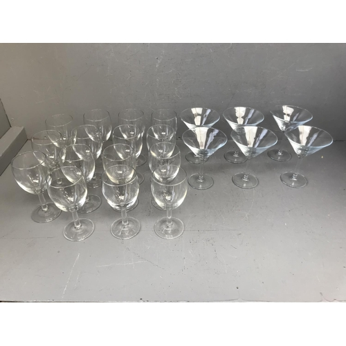 5 - Quantity of cocktail glasses & wine glasses...