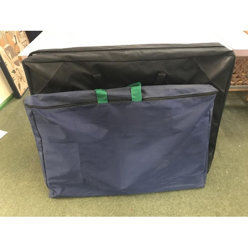 55 - 8 panel aluminium frame area of display boards in carrying case & a smaller set ( selling for charit...
