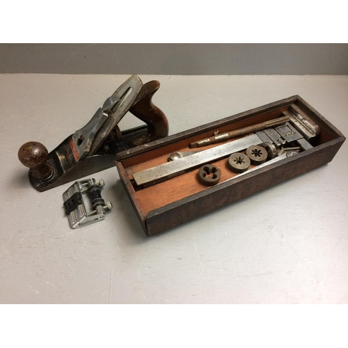 59 - Stanley plane together with a micro screw measure & other tools...