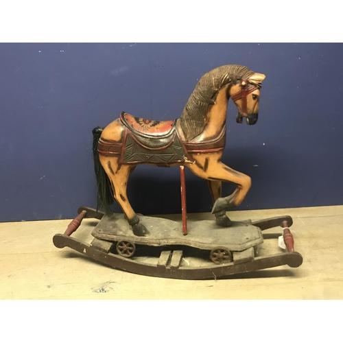 135 - Small rocking horse 69 x 79 cm...