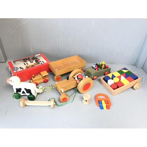 137 - Selection of childrens wooden toys...