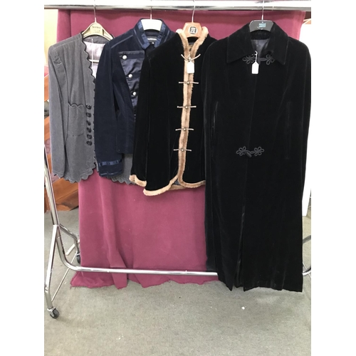34 - Qty of evening jackets & coats to include Raymond of London,Cadari London,Warehouse & other (4)...