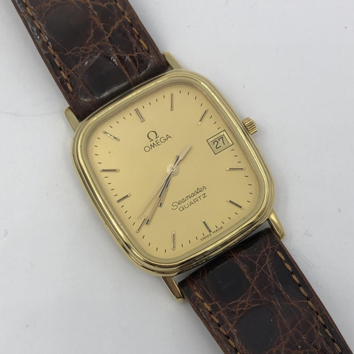38 - Omega seamaster quartz wristwatch...