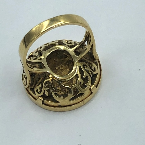 57 - Edwardian 1/2 soveriegn ring in 18ct gold mount 10.06g...