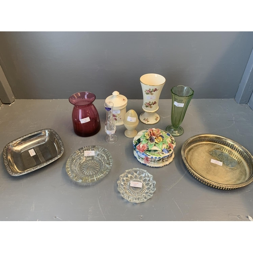 10 - Small quantity of china, glass & metal ware...