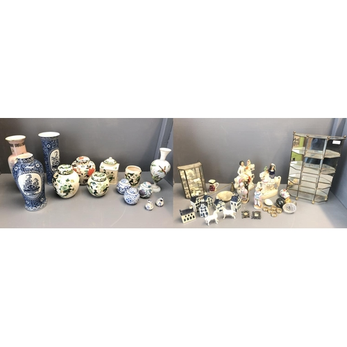 53 - Qty of china to include ginger jars, vases etc by James Kent Old Foley, Masons, Petrus Regout & Co M...