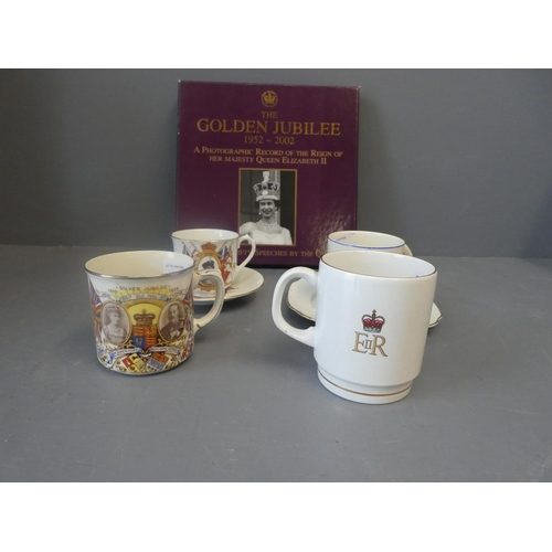 3 - Collection of commemorative china together with a boxed photographic record of Elizabeth II & 3 Ston...