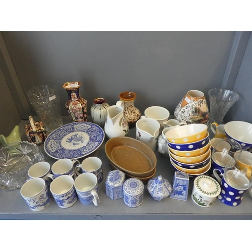 19 - Large qty of china & glass ware...