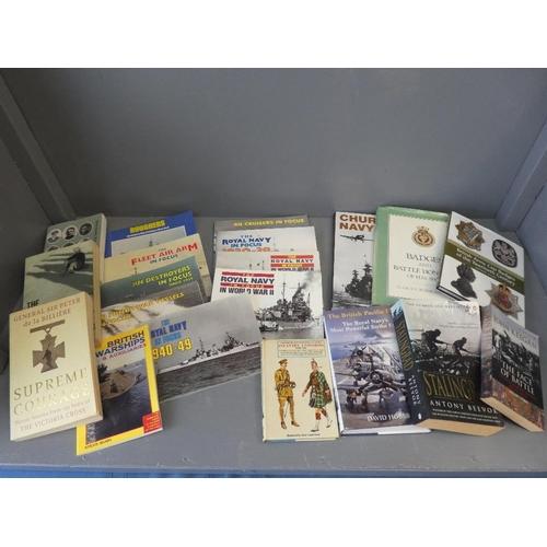 18 - Qty of books  military interest...