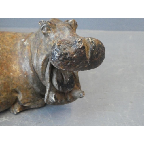 31 - A soapstone carved Hippopotamus...