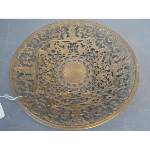 4 - Qty of items to include lamp, marble top, plate, medals & ashtray...