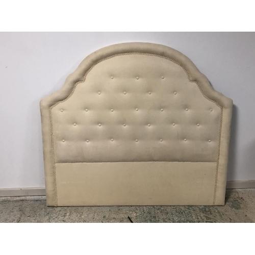 65 - Headboard in cream fabric  139cm W...