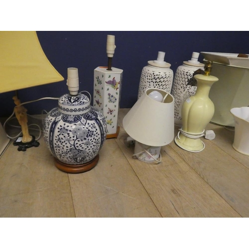 67 - Qty of lamps and lampshades...