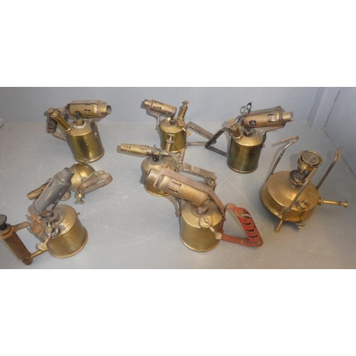 68 - Qty of brass blow lamps...