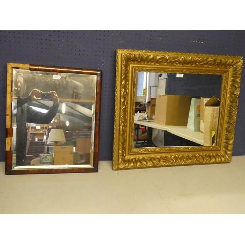 70 - Two mirrors one gilt frame The other in need of restoration...