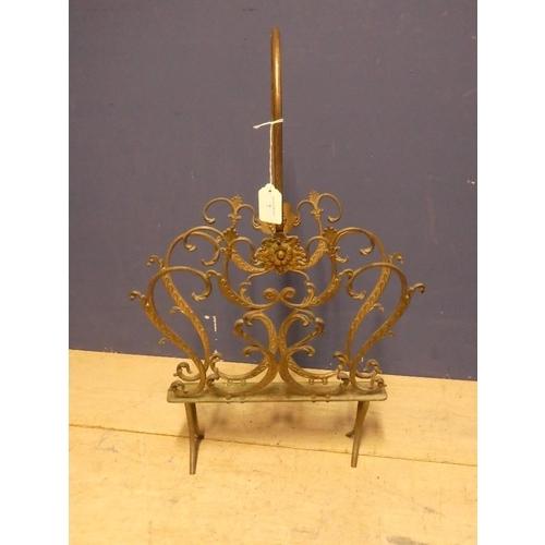 7 - Free standing cast iron magazine rack 65h x 45W cm...