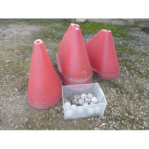 37 - Horse training cones & balls...